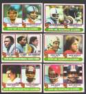 1980 Topps Football League Leaders 6 card subset