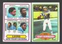 1980 Topps Football Team Set - DETROIT LIONS