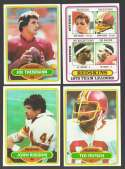 1980 Topps Football Team Set - WASHINGTON REDSKINS