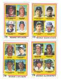 1978 Topps EX Condition - Rookies (11 cards subset) Molitor VG
