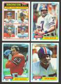 1981 Topps Football Team Set - DENVER BRONCOS