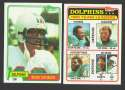1981 Topps Football Team Set - MIAMI DOLPHINS