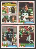 1981 Topps Football Team Set - NEW YORK JETS