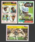 1981 Topps Football Team Set - DETROIT LIONS