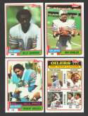 1981 Topps Football Team Set - HOUSTON OILERS