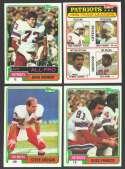 1981 Topps Football Team Set - NEW ENGLAND PATRIOTS