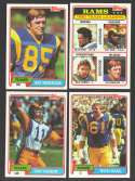 1981 Topps Football Team Set - Los Angeles RAMS
