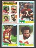 1981 Topps Football Near Team Set - WASHINGTON REDSKINS missing Monk