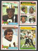 1981 Topps Football Team Set - NEW ORLEANS SAINTS