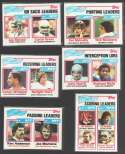 1982 Topps Football League Leaders (6 Cards subset)