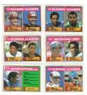1983 Topps Football League Leaders 6 card subset