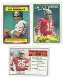 1983 Topps Football Team Set - SAN FRANCISCO 49ERS