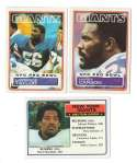 1983 Topps Football Team Set - NEW YORK GIANTS