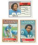 1983 Topps Football Team Set - DETROIT LIONS