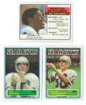 1983 Topps Football Team Set - SEATTLE SEAHAWKS