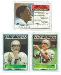 1983 Topps Football Team Set - SEATTLE SEAHAWKS