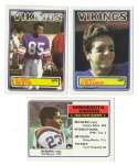 1983 Topps Football Team Set - MINNESOTA VIKINGS