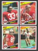 1984 Topps Football Team Set - SAN FRANCISCO 49ERS