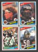 1984 Topps Football Team Set - CHICAGO BEARS