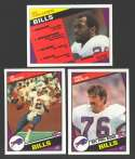 1984 Topps Football Team Set - BUFFALO BILLS