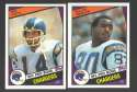 1984 Topps Football Team Set - SAN DIEGO CHARGERS