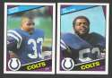 1984 Topps Football Team Set - INDIANAPOLIS COLTS