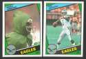 1984 Topps Football Team Set - PHILADELPHIA EAGLES