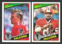 1984 Topps Football Team Set - ATLANTA FALCONS