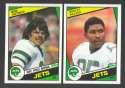 1984 Topps Football Team Set - NEW YORK JETS