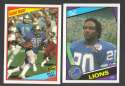 1984 Topps Football Team Set - DETROIT LIONS