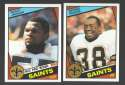 1984 Topps Football Team Set - NEW ORLEANS SAINTS