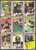 1984 Topps Football Team Set - PITTSBURGH STEELERS