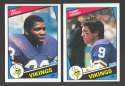1984 Topps Football Team Set - MINNESOTA VIKINGS