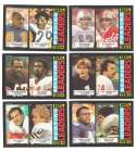 1985 Topps Football League Leaders Subset w/ Dan Marino, Joe Montana, Art Monk