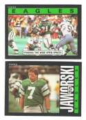 1985 Topps Football Team Set - PHILADELPHIA EAGLES