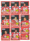 1985 Topps USFL Football Team Set - Tampa Bay Bandits