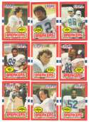 1985 Topps USFL Football Team Set - New Orleans Breakers