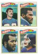 1977 Topps Football Team Set (EX Cond) - NEW YORK GIANTS