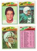 1977 Topps Football Team Set (EX Cond) - NEW YORK JETS