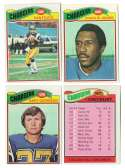 1977 Topps Football Team Set (EX Cond) - SAN DIEGO CHARGERS