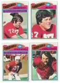 1977 Topps Football Team Set (EX Cond) - ST LOUIS CARDINALS