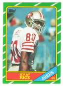 1986 Topps Football Team Set - SAN FRANCISCO 49ERS w/ JERRY RICE RC (A)