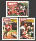 1987 Topps Football Team Set - SAN FRANCISCO 49ERS