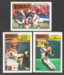 1987 Topps Football Team Set - CINCINNATI BENGALS