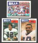 1987 Topps Football Team Set - BUFFALO BILLS w/ Jim Kelly RC
