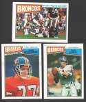 1987 Topps Football Team Set - DENVER BRONCOS w/ John Elway