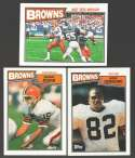 1987 Topps Football Team Set - CLEVELAND BROWNS