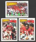 1987 Topps Football Team Set - ST LOUIS CARDINALS
