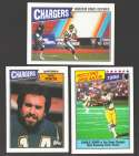 1987 Topps Football Team Set - SAN DIEGO CHARGERS