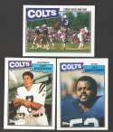 1987 Topps Football Team Set - INDIANAPOLIS COLTS